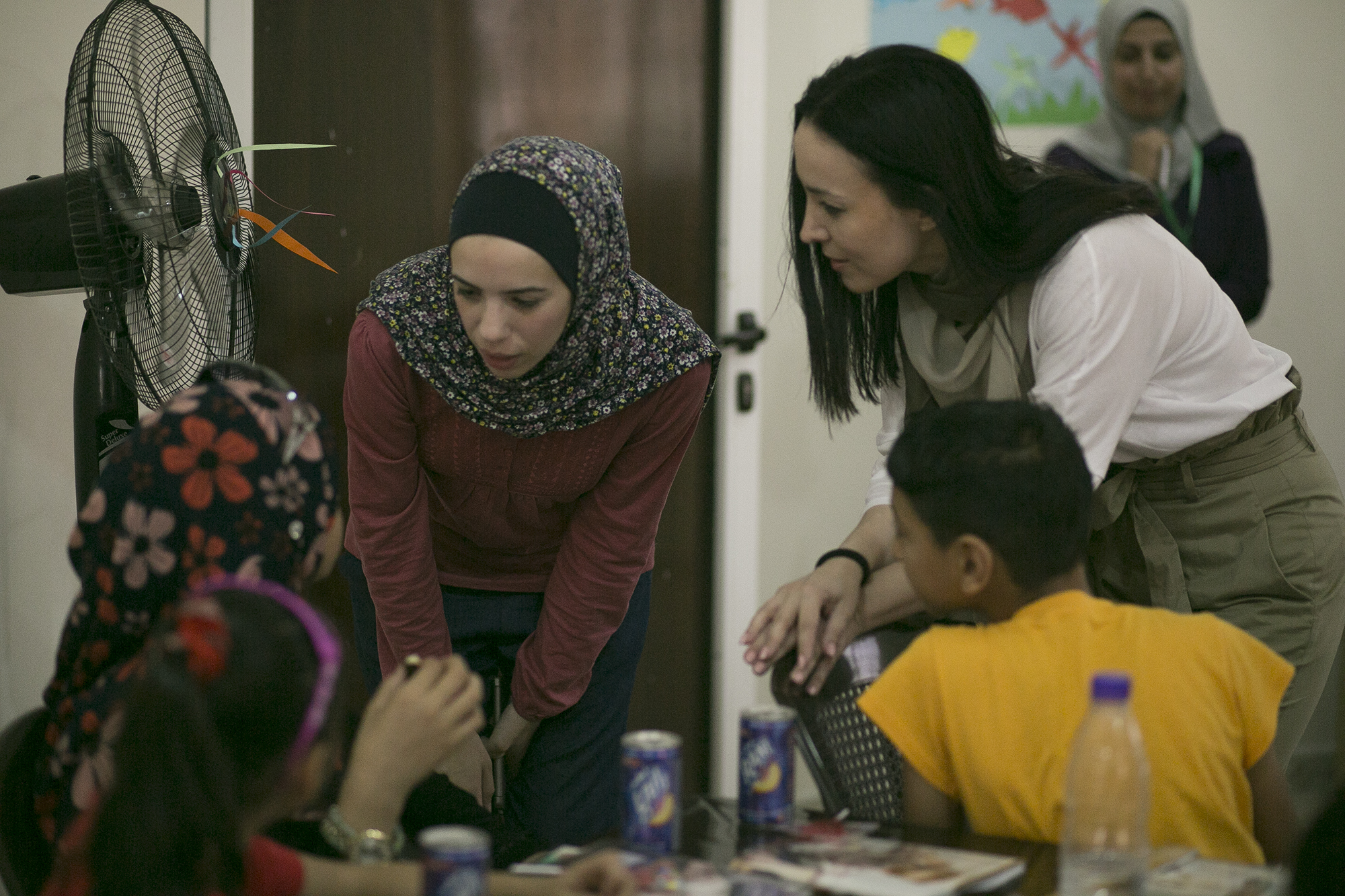 Visitando a mujeres refugiadas en Jordania