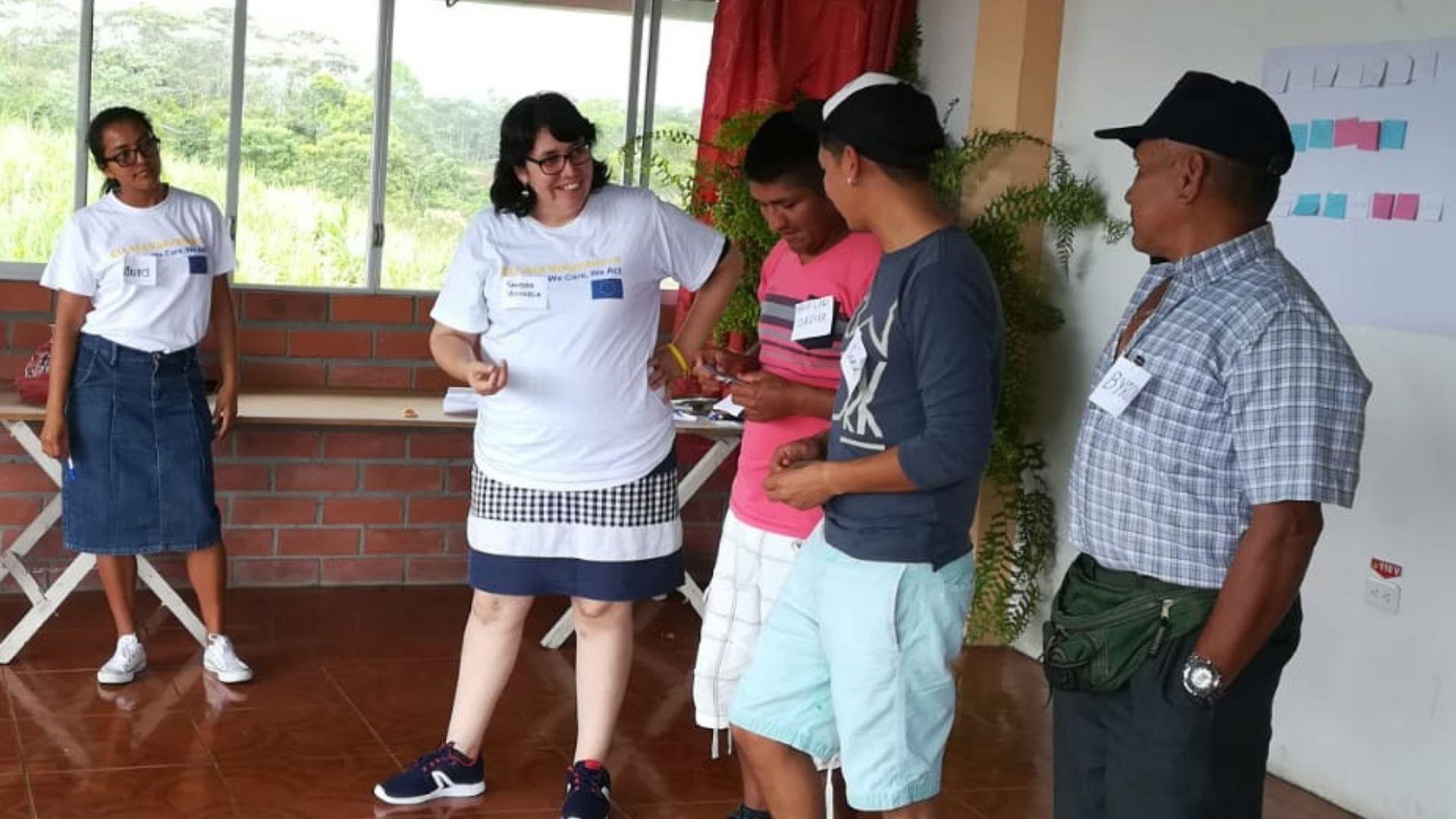 Sandra victoria, cooperante al desarrollo en Colombia