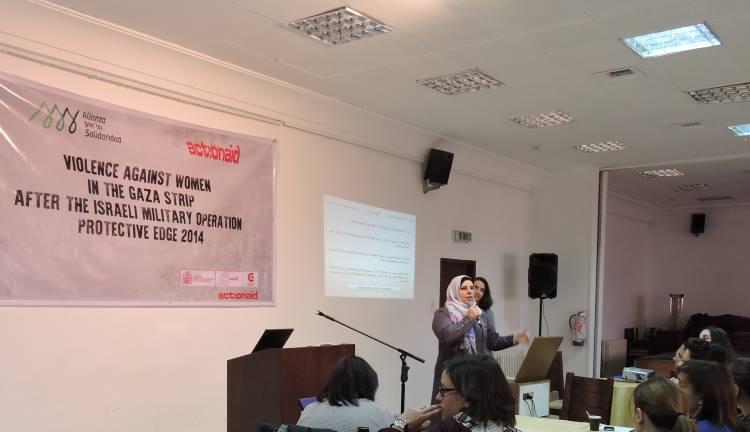 Presentación del estudio sobre la violencia contra las mujeres en Gaza