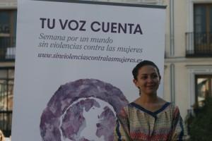 Yara Sallam durante una visita a Madrid en 2012