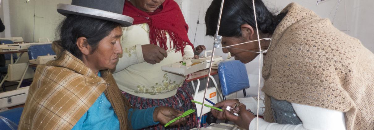 Mujeres trabajadoras sindicalistas Bolivia