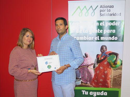 Alianza por la Solidaridad hace entrega del diploma de empresa aliada a la Fundación Esperanza Pertusa