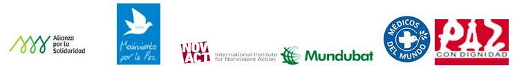 Alianza por la Solidaridad Movimiento por la Paz Médicos del Mundo Movimiento por la Paz International Institue for Noviolent Action Mundbat Paz con Dignidad