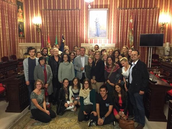 Recepción en el ayuntamietno de Sevilla