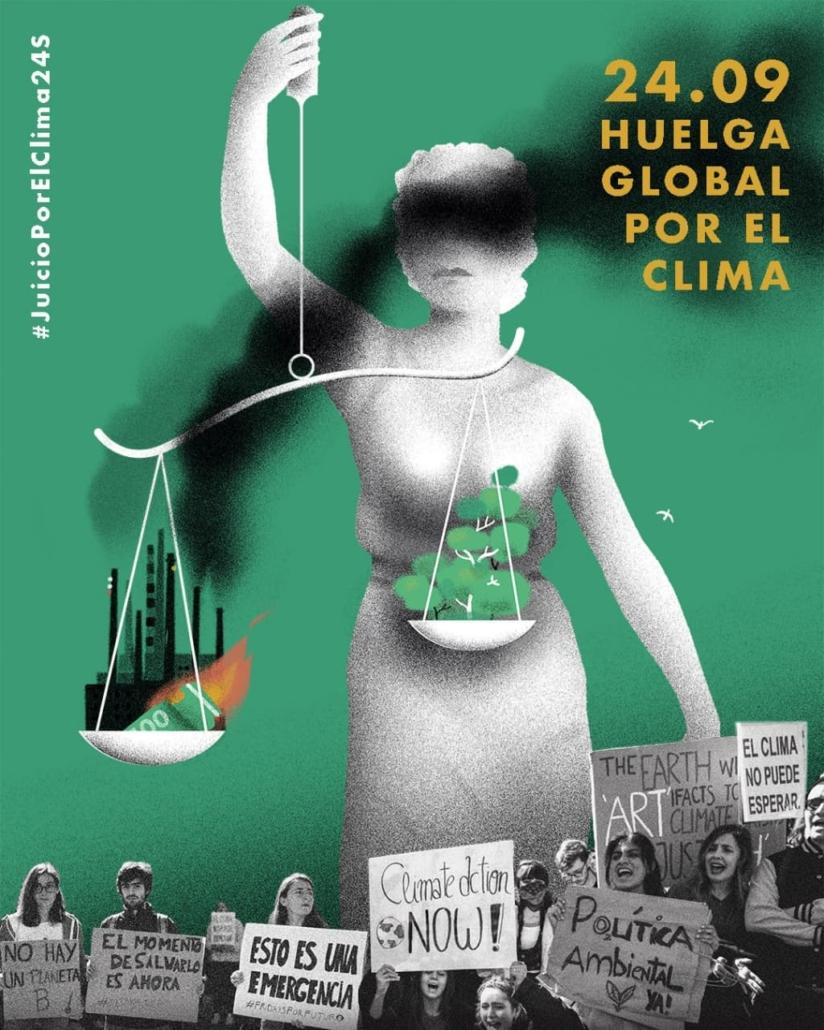 cartel movilización por el clima 24 de septiembre