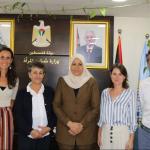 Foto de la reunión con la Ministra Palestina
