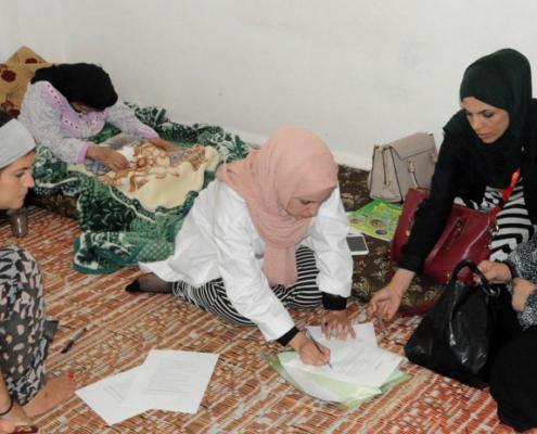 refugiadas sirias en Jerash